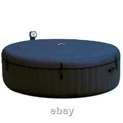 Intex PureSpa 6 Person Portable Inflatable Round Hot Tub Jet Spa with Cover, Blue