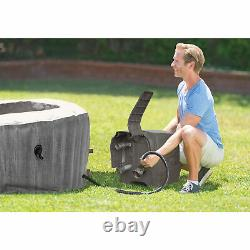 Intex PureSpa Greywood Deluxe 6 Person Inflatable Hot Tub Jet Spa (For Parts)
