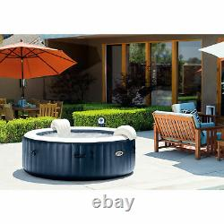 Intex PureSpa Inflatable Bubble Jets 6 Person Hot Tub and Drink Tray (2 Pack)