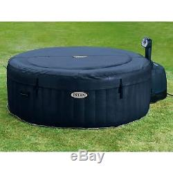 Intex Pure Spa 4-Person Home Inflatable Hot Tub & Qualco 6 Month Chemical Kit