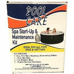 Intex Pure Spa 6 Person Inflatable Hot Tub with 14888 Chemical Maintenance Kit