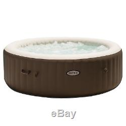 Intex Pure Spa 6 Person Portable Inflatable Bubble Jet Massage Heated Hot Tub