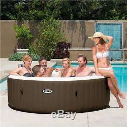 Intex Pure Spa 6 Person Portable Inflatable Bubble Jet Massage Hot Tub (Used)
