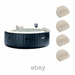 Intex Pure Spa 6 Person Portable Outdoor Bubble Jets Hot Tub & Seats (4 Pack)