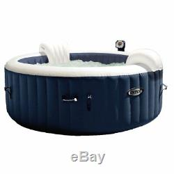 Intex Pure Spa Inflatable Hot Tub Set with 6 Filter Cartridges and Accessories