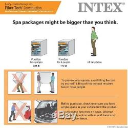 Intex Pure Spa Outdoor Inflatable Patio Hot Tub Bubble Jets 4 Person Octagonal