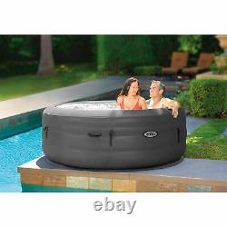 Intex SimpleSpa 4 Person Inflatable Portable Hot Tub with Energy Efficient Cover
