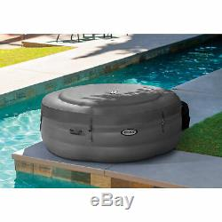 Intex Simple Spa 77x26 in Inflatable Hot Tub with Filter Pump & Cover (Open Box)