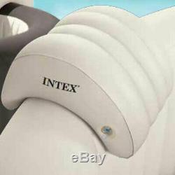 Intex Slip Resistant Hot Tub Seat (2 Pack) and Inflatable Spa Headrest (2 Pack)
