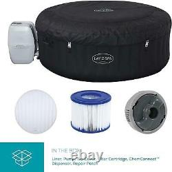 Lay-Z-Spa Miami Hot Tub 120 AirJet Massage System Inflatable Spa Freeze Shield