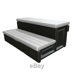 Leisure Accents 2-Step 36 Deluxe Deck Patio Spa Hot Tub Steps Gray (Open Box)