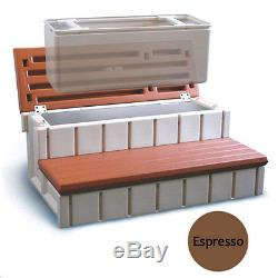 Leisure Accents Spa Step with Storage Compartment 36- Expresso- Free Shipping