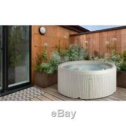 Life Smart 5 Person Patio Hot Tub Spa with 13 Jets & Cover, Sand (Open Box)