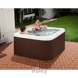 Lifesmart Spas LS100 Plus 4 Person Jetted Plug & Play Hot Tub Spa with Cover
