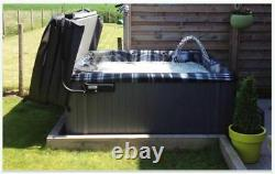 Luxury Hot Tub 100 Jets 6 Person 32 Amp Bluetooth Music Grey New