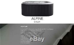 MSpa Alpine Self Inflatable Hot Tub Jacuzzi Bubble Spa Square For 6 Peoples