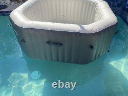 NEW Intex 120 Bubble Jets 4-Person Inflatable Hot Tub Spa +Cover SEE DETAILS