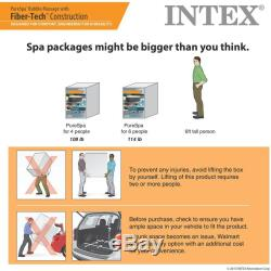 NEW Intex 120 Bubble Jets 4-Person Octagonal Portable Inflatable Hot Tub Spa