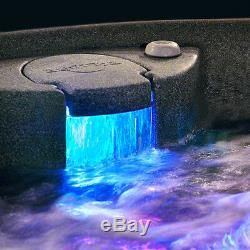 New 4 Person Hot Tub 20 Jets Waterfall Easy Maintenance Brownstone