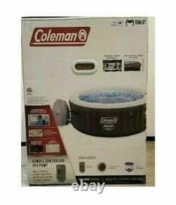 New Coleman SaluSpa 4 Person Inflatable Outdoor Hot Tub Air Jets Jacuzzi Pool