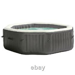 New Intex 140 Bubble Jets 6-Person Octagonal Portable Inflatable Hot Tub Spa