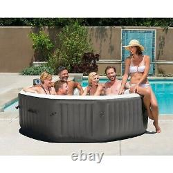 New Intex 140 Inflatable Hot Tub, Bubble Jets, 6-Person, Octagonal Portable Spa