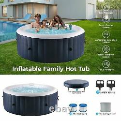 Portable Inflatable Hot Tub Portable Massage Spa Set withPump & Cover Home Holiday