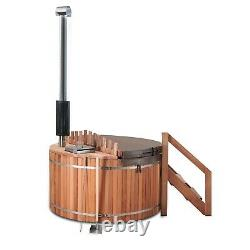 Red Cedar Hot Tub, with wood fired stove, Free Shipping. 3-4 person, WHT-WI1809