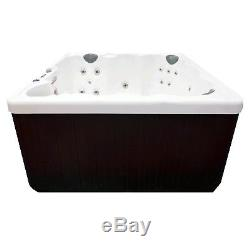 Relaxing Hudson Bay Spas 6-Person 19-Jet Spa with Stainless Jets 110V GFCI Cord