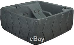S A L E 5 PERSON HOT TUB w LOUNGER- 29 JETS-OZONE SYSTEM GREYSTONE