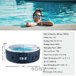 Secondhand CO-Z 6.8ft Inflatable Spa Tub Portable Jacuzzi with 140 Jets and Pump