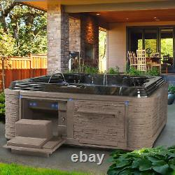 Spa Grand Estate 90-Jet Hot Tub Acrylic Spa with Bluetooth, Midnight Canyon