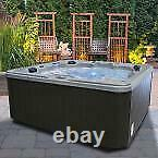 Spa Hot Tub Jacuzzi 7-Person Jet hydrotherapy Lounger Backlit LED Waterfalls
