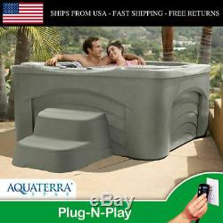 Spa Lounge Backyard 4 Person 17 Jet Hydrotherapy Plug-n-play Aquaterra Spas