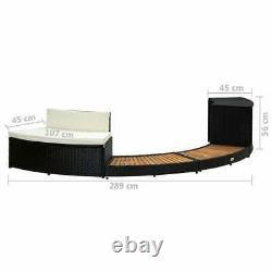 Spa Surround Poly Rattan and Acacia Wood Garden Outdoor Patio Massage Hot Tub
