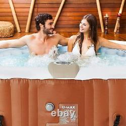 U-MAX Inflatable Hot Tub, Heater and Bubble Function SPA, Square, 2-4/4-6 Person