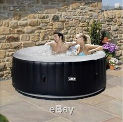 Wave Spa Lazy Spa Black Inflatable Hot Top 4 Persons RRP £779