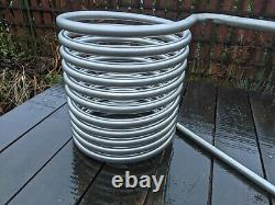 XL stainless steel heater coil 12 metre tube for x-large wood-fired hot tubs
